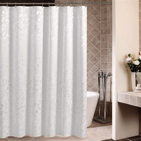 Cloth Shower Curtains Qualified Fabric Polyester Curtain Liner Bath Shower Curtain Bathroom White Ebay