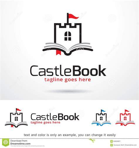 libro logo modernism design libro logo template design vector del castello illustrazione vettoriale illustrazione di
