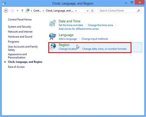 region and language change the unit of measurement in windows 8