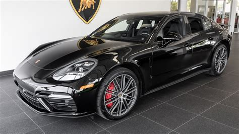 porsche back 2017 black porsche panamera turbo
