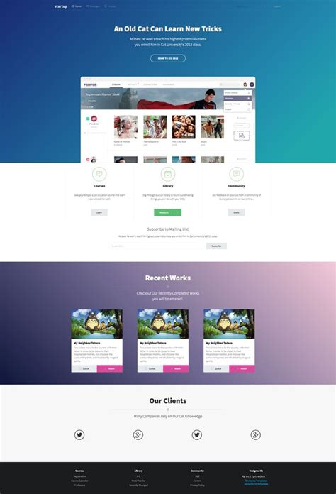 startup landing page template free landing page template built with semantic ui