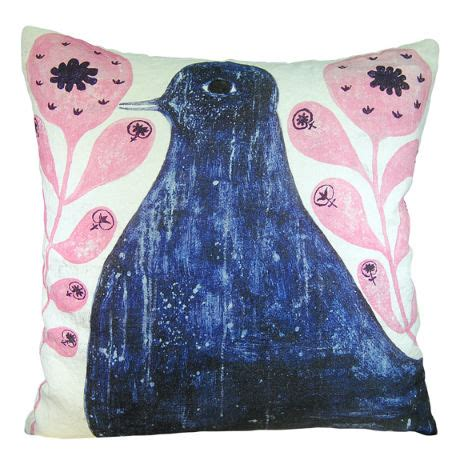 Sugarboo Designs Pillows by 24 Quot X 24 Quot Black Bird In Flowers Pillow By Sugarboo Designs