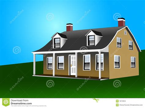 dutch style house plans dutch colonial style house stock vector illustration of