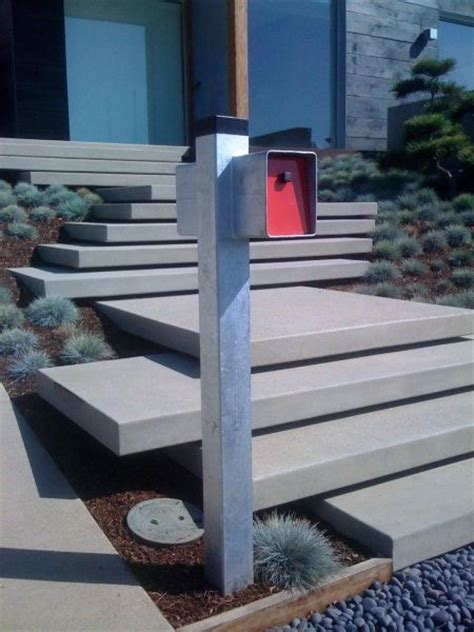 Floating Concrete Stairs And Landing floating concrete stairs the modern mailbox home cardiff the modern