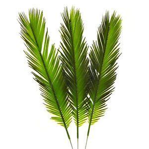 Silk Arrangements For Home Decor 3 Artificial 41cm Cycas Palm Leaves Easter Palm Sunday