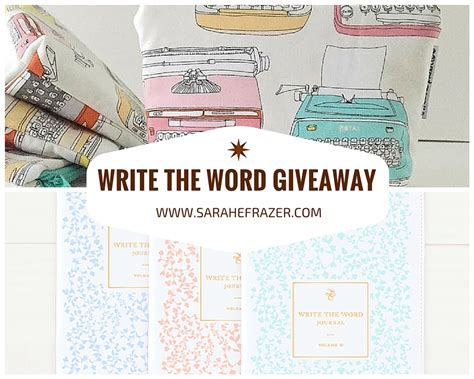 How To Word A Giveaway - write the word giveaway sarah e frazer