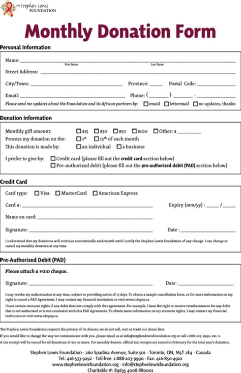 donation form template donation sheet template for free formtemplate