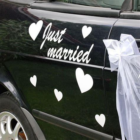 Just Married Autodeko by Autodeko Just Married In Wei 223 Weddix De