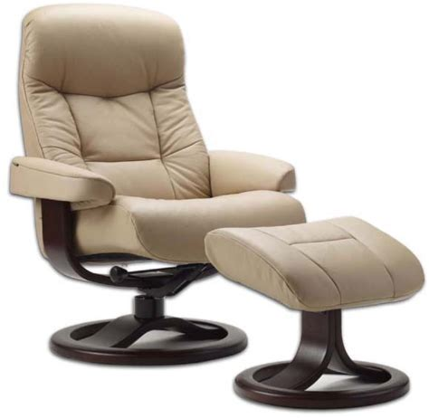 Lounge Recliners by Fjords 215 Muldal Leather Recliner Chair Ottoman