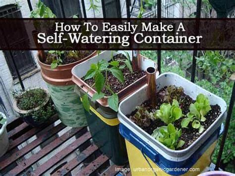 how to make a self watering planter how to easily make a self watering container planter