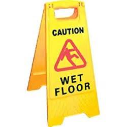 floor sign caution floor size 640mm h