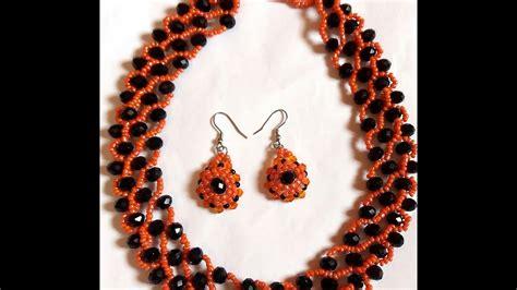 Beaded Necklace flatron beaded necklace tutorial