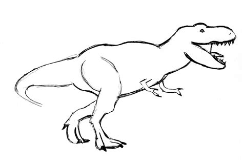 Drawing T Rex by Tyrannosaurus Rex Drawing T Rex Drawing Step By Step