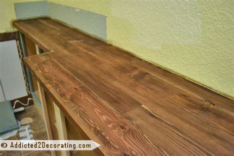 Wooden Countertops Diy by Diy Wood Countertop Is Finished Well Almost