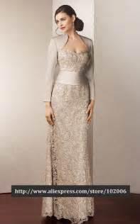 elegant floor length bolero mother of the bride lace