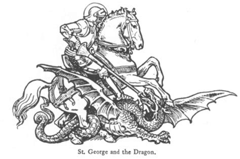knight saint george coloring page coloringcrewcom full