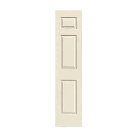 jeld wen 18 in x 83 5 in woodgrain 6 panel unfinished jeld wen 18 in x 80 in colonist primed textured molded