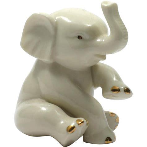 porcelain elephant lenox porcelain elephant figurine china paperweight ivory