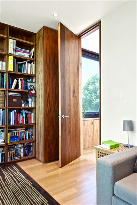 Sliding Screens Room Dividers - full height door details modern home office toronto by andrew snow photography