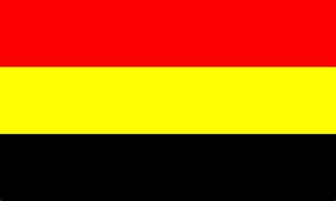 black yellow red flag white red flag