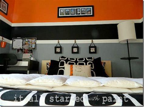 orange and black bedroom ideas boys modern orange striped bedroom design dazzle