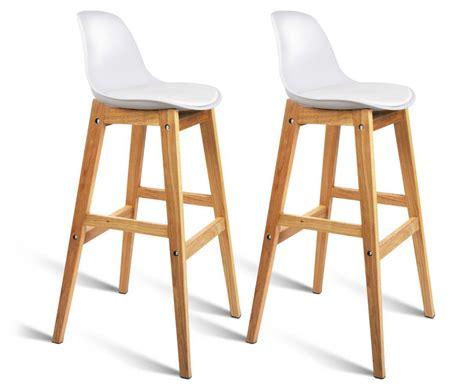 high back wooden bar stools scoopon shopping set of 2 eames high back bar stools