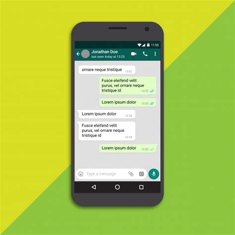 free chat for mobile chat screen mobile phone template vector premium
