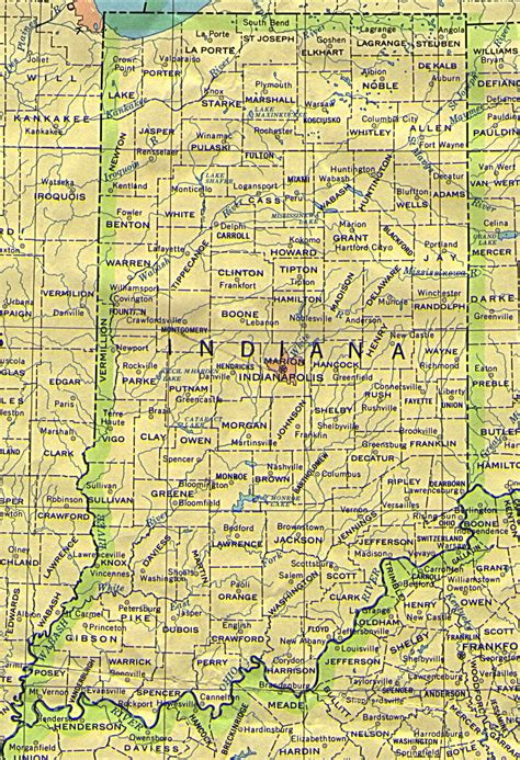 map of indiana counties indiana base map