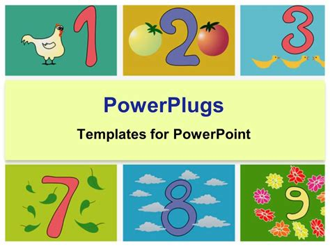 powerpoint templates numbers free powerpoint template whimsical numbers counting