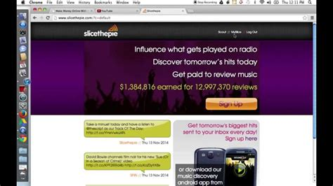 Make Money Online By Listening To Music - slice the pie make money online listening to music youtube