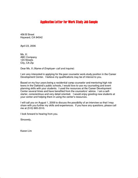 application letter for the internship 14 internship application letter sle pdf basic