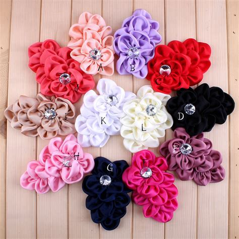 Handmade Fabric Flowers Patterns - aliexpress buy 50pcs lot 12 colors handmade soft