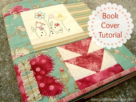 Tutorial Patchwork - book cover tutorial 52 ufo quilt block up