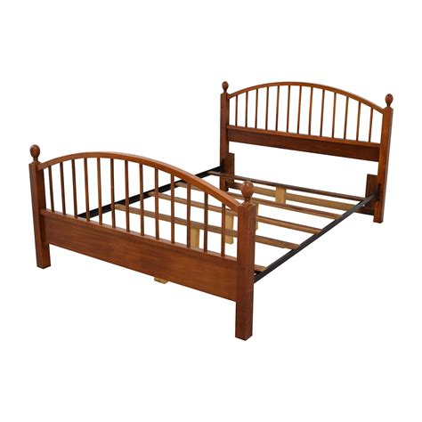 used queen bed frame 77 off solid oak caged queen bed frame beds