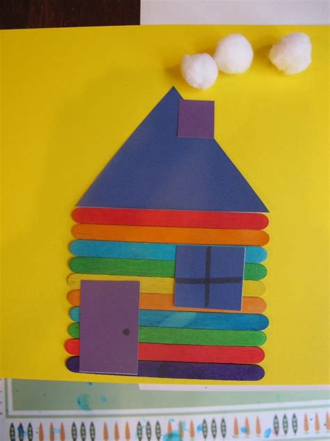 crafty house best photos of house crafts for preschoolers my family house craft shapes preschool