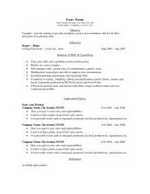 simple resume templates simple resume template for 2016 recentresumes