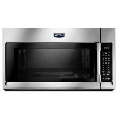 microwave store shop maytag 1 9 cu ft over the range convection microwave with sensor cooking controls