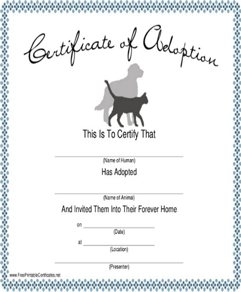 dog certificate template 7 free pdf documents download