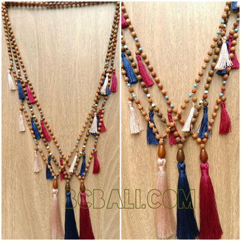 wooden bead necklace designs tassel necklaces wood bead jewelries designs tassel