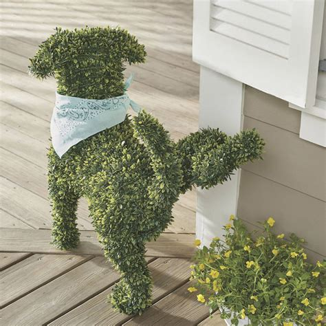 Decorative Dog Food Storage Decorative Dog Topiary The Green Head