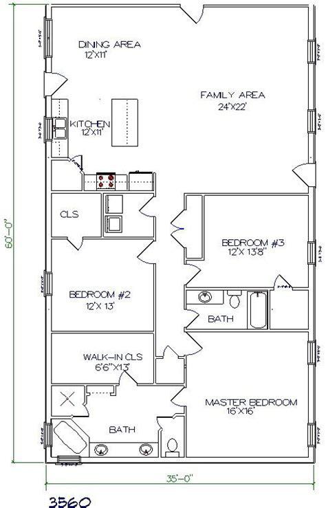 Floor Plans For Barndominium | steel buildings with living quarters floor plans similar