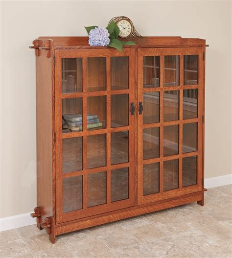 mission bookcase with doors rochester ny bookcases