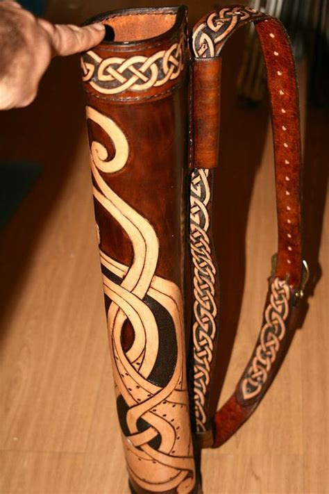 Handmade Leather Quivers - beautiful handmade archery quiver reenactment leather