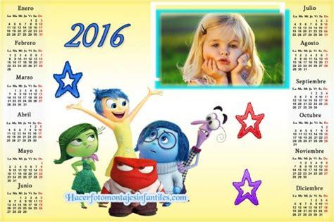 fotomontaje de calendario 2015 minions con foto hacer fotomontaje de calendario 2016 de intensamente disney