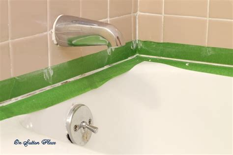 what type of caulk for bathtub how to caulk a bathtub on sutton place