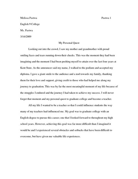 Exles Of Narrative Essays For College by What A Narrative Essay