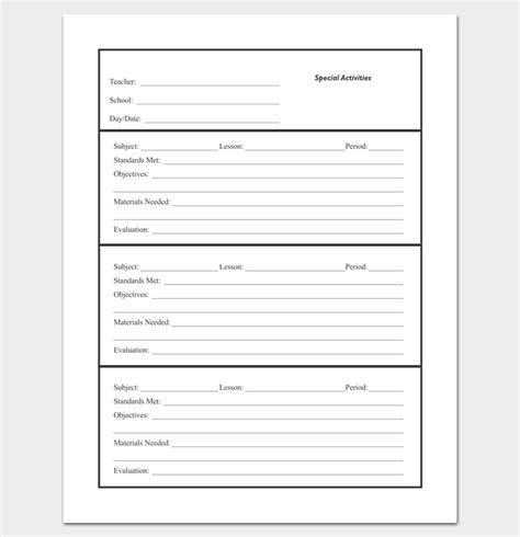 create a lesson plan template lesson plan outline template 23 exles formats and