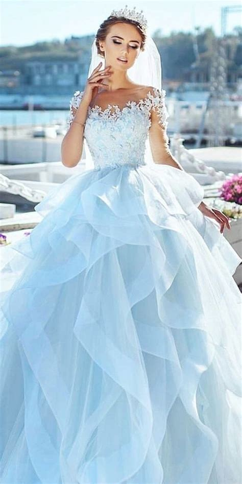 Blue Wedding Dress by How About A Blue Wedding Dress This Time Medodeal