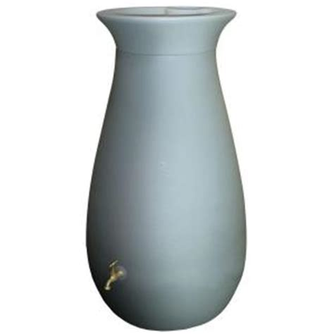 algreen cascata 65 gal barrel in grey 81101 the