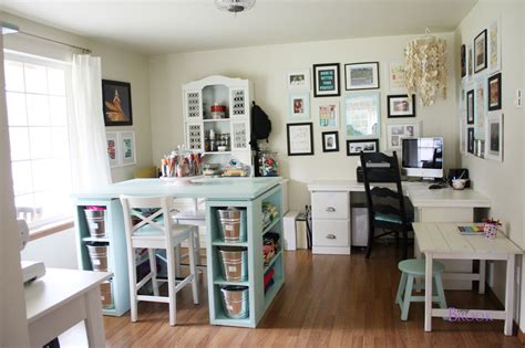 Craft Room Table by White Modern Craft Table Aqua Diy Projects
